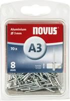 Popszegecs (Ø x H) 3 mm x 8 mm Alumínium Alumínium Novus 016046 70 db Novus