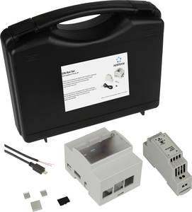 Renkforce DIN-Rail Set f. Raspberry Pi® 4 B Kapalsínes házzal, Kalapsínes tápegységgel, USB kábellel, Noobs OS-sel, Renkforce