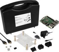 Renkforce Basic Set Raspberry Pi® 3 B+ 1 GB 4 x 1.4 GHz Házzal, Tápegységgel, HDMI™ kábellel, Noobs OS-sel, Hűtőbordával Renkforce