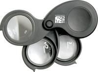 TRU COMPONENTS Nagyító Lencse Ø: 27 mm 1 db Magnifier5.10.15x (H x Sz x Ma) 61 x 42 x 28 mm TRU COMPONENTS
