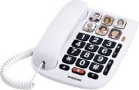 Audioline Tmax 10 Vezetékes telefon, analóg Kihangosító Fehér Audioline