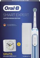 Oral-B SMART Expert Limited Design Edition incl. Braun Wecker Elektromos fogkefe Fehér, Kék (fémes) Oral-B