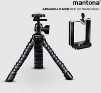 Mantona 22761 Mini állvány Munkamagasság=80 - 180 mm Fekete, Szürke Mantona