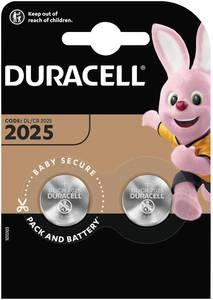 Duracell Elektro 2025 Gombelem CR 2025 Lítium 165 mAh 3 V 2 db Duracell