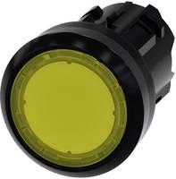 Siemens Világító jelző Műanyag előlapi gyűrű, kerek Gomb Fekete, Sárga 1 db Siemens