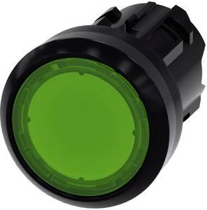 Siemens Világító jelző Műanyag előlapi gyűrű, kerek Gomb Fekete, Zöld 1 db Siemens