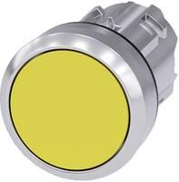 Siemens Nyomógomb Fém előlapi gyűrű, magasfényű, kerek Gomb Ezüst, Sárga 1 db Siemens