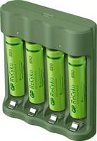 GP Batteries Basic-Line 4x ReCyko+ Micro Hengeres akku töltő Akkukkal NiMH Mikro (AAA), Ceruza (AA) GP Batteries