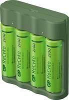 GP Batteries Basic-Line 4x ReCyko+ Mignon Hengeres akku töltő Akkukkal NiMH Mikro (AAA), Ceruza (AA) GP Batteries