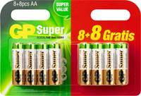 Mikroelem Alkáli mangán GP Batteries Super 8 + 8 gratis GP Batteries