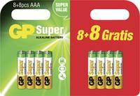 Ceruzaelem Alkáli mangán GP Batteries Super 8 + 8 gratis 1.5 V 16 db GP Batteries