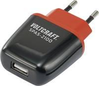 VOLTCRAFT SPAS-2100 VC-11413285 USB-s töltőkészülék Aljzat dugó Kimeneti áram (max.) 2100 mA 1 x USB Auto-detect VOLTCRAFT