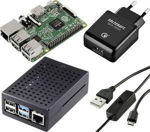 Renkforce Pure Set Raspberry Pi® 2 B 1 GB 4 x 0.9 GHz Tápegységgel, Házzal Renkforce