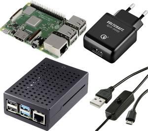 Renkforce Pure Set Raspberry Pi® 3 B+ 1 GB 4 x 1.4 GHz Tápegységgel, Házzal Renkforce