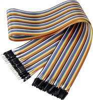 Renkforce JKMF406 Jumpe kábel Arduino, Banana Pi, Raspberry Pi [40x Áthidaló huzal dugó - 40x Áthidaló huzal alj] 60.00 Renkforce