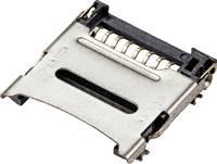 TRU COMPONENTS microSD Kártyafoglalat Lehajtós TC-9201932 1 db TRU COMPONENTS