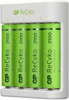 GP Batteries E411 + 4x ReCyko+ Mignon USB-s töltő Akkukkal NiMH Mikro (AAA), Ceruza (AA) GP Batteries
