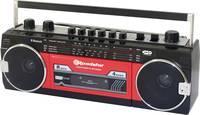 Roadstar RCR-3025EBT/RD Hordozható kazetta lejátszó Érezhető gombok, Felvétel funkció, Mikrofonnal Piros, Fekete Roadstar