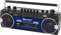 Roadstar RCR-3025EBT/BL Hordozható kazetta lejátszó Érezhető gombok, Felvétel funkció, Mikrofonnal Kék, Fekete Roadstar