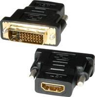 Roline Átalakító [1x DVI dugó, 24+1 pólusú - 1x HDMI alj] Fekete Roline