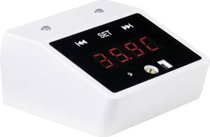 Érintésmentes testhőmérő, infra hőmérő 0 ... 50 °C, falra vagy állványra szerelhető, Basetech IR-10 D Basetech