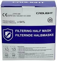 CRD Light CRDFFP2 Finom por ellen védő maszk szelep nélkül FFP2 25 db DIN EN 149:2001 + A1:2009 CRD Light