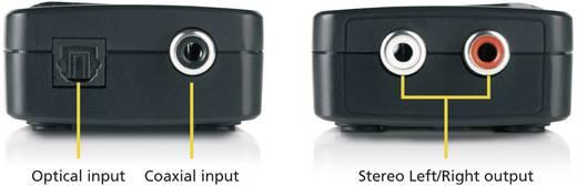 D/A konverter, digitális analóg átalakító 1x koax, optikai Toslink bemenetről 2 x RCA kimenetre Marmitek DA21