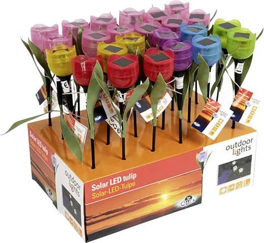 Napelemes dekorációs világítás Virág LED Különböző színek (színválasztás nem lehetséges)