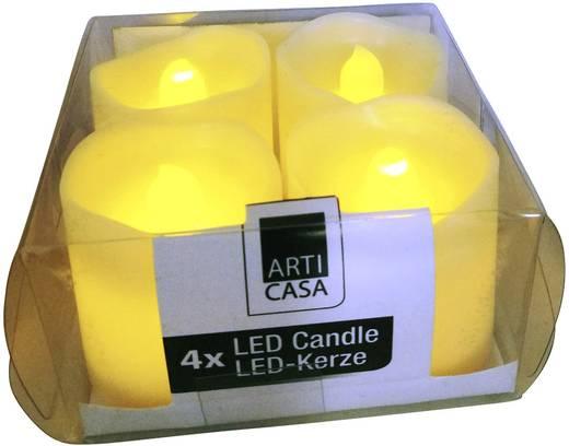 LED-es gyertya készlet, karácsonyi LED mécses, 37,5 x 40 mm, melegfehér, 4 db