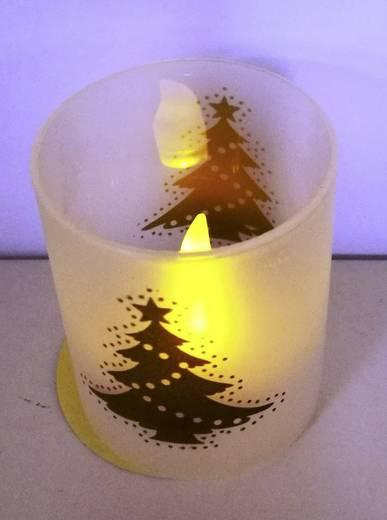 LED-es gyertya, karácsonyi LED mécses, 50 x 60 mm, melegfehér