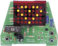 Velleman MK124, gördülő üzenet 35 LED-es grafikus kijelzővel, építőkészlet, 9 - 12 V/DC Velleman
