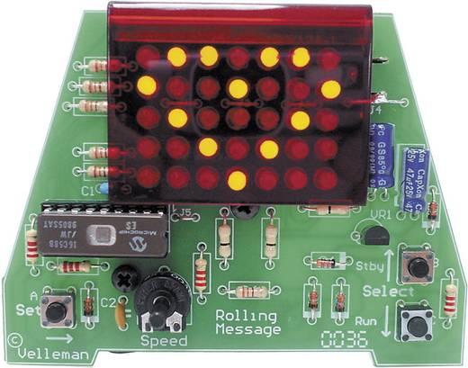 Velleman MK124, gördülő üzenet 35 LED-es grafikus kijelzővel, építőkészlet, 9 - 12 V/DC
