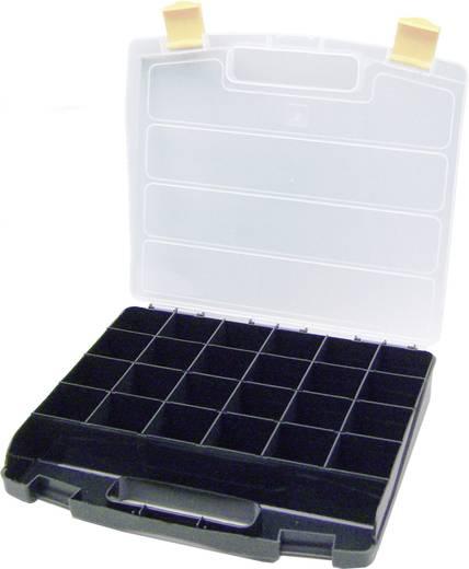 Zárható alkatrésztároló koffer, táska 24 részes elválasztó rekesszel 340x230x55mm Viso