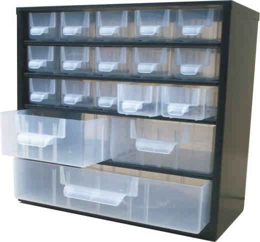 Alkatrésztároló szekrény 18 részes fiókkal 310x155x285mm Viso