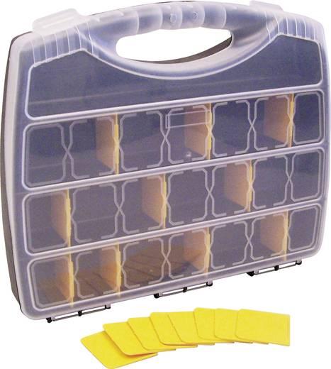 Zárható alkatrésztároló koffer, táska 21 részes elválasztó rekesszel 380x80x480mm Viso Comp