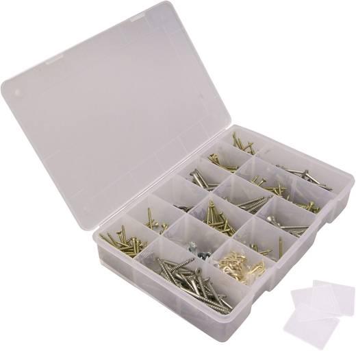Zárható fedeles alkatrésztároló doboz 24 rekeszes Viso