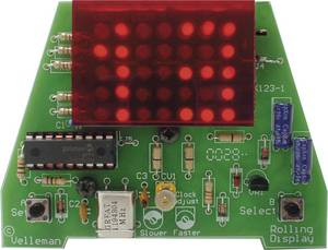Velleman MK123, gördülő óra építőkészlet 9 - 12 V/DC (MK123) Velleman