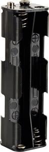 Velleman BH382B Elemtartó 8x Ceruza (AA) Patent csatlakozó (H x Sz x Ma) 108.5 x 31.5 x 29.5 mm Velleman