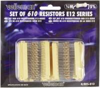 Velleman K/RES-E12 Szénréteg ellenállás készlet Axiális kivezetéssel 0.25 W 5 % 1 készlet Velleman