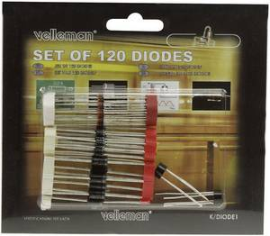 Dióda készlet, 120 részes, Velleman K/DIODE1 (K/DIODE1) Velleman