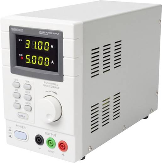 Labortápegység, szabályozható Velleman LABPS3005DN 0 - 30 V/DC 0 - 5 A 150 W Kimenetek száma 1 x
