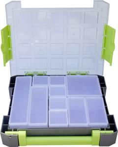 Zárható alkatrésztároló koffer, táska 10 részes elválasztó rekesszel 275x70x325mm Viso W185-10 (W185-10) VISO