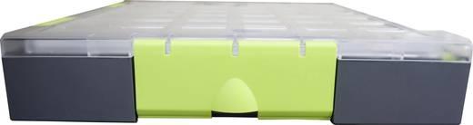 Zárható alkatrésztároló koffer, táska 10 részes elválasztó rekesszel 275x70x325mm Viso W185-10