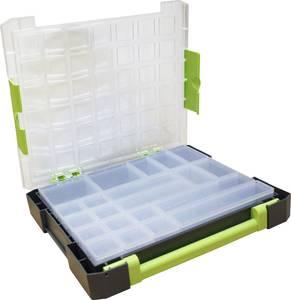 Zárható alkatrésztároló koffer, táska 21 részes elválasztó rekesszel 375x70x425mm Viso W385-21 VISO