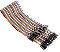 Whadda VMA413 Jumpe kábel Raspberry Pi, Banana Pi, Arduino [40x Áthidaló huzal dugó - 40x Áthidaló huzal dugó] 30.00 cm Whadda