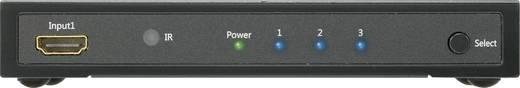 3 portos HDMI Switch távirányítóval, 3D lejátszás lehetséges 1920 x 1080 Pixel SpeaKa Professional fekete