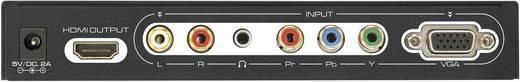 RCA / VGA / HDMI AV Konverter [5x RCA alj, VGA alj 1x HDMI alj] 1920 x 1080 Pixel fekete SpeaKa Professional