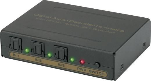 3 portos Toslink Switch beépített konverterrel, SpeaKa Professional fekete