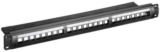 "KeyStone 19"" panel, 24 port UTP SNAP IN, Goobay 95743"