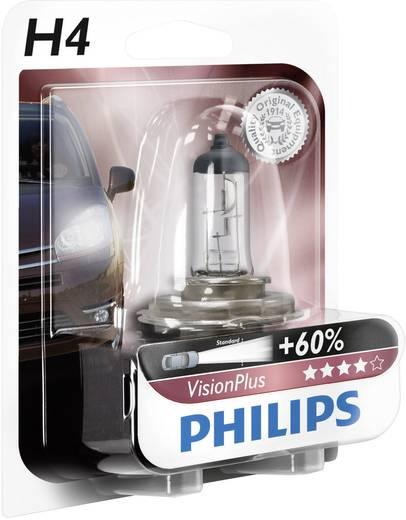Philips VisionPlus H4 12 V 1 pár P43t, átlátszó